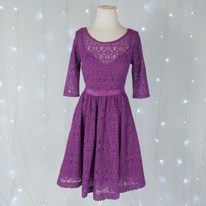 Tracy Reese Estella Lace Fit & Flare Dress